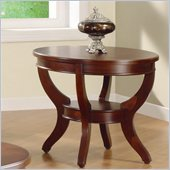 Homelegance Avalon End Table in Cherry