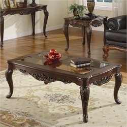 Trent Home Ella Martin Cocktail Table in Warm Brown Cherry