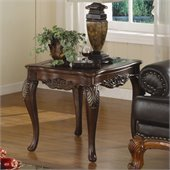 Homelegance Ella Martin End Table in Warm Brown Cherry
