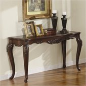 Homelegance Ella Martin Sofa Table in Warm Brown Cherry