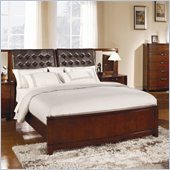 Homelegance Hamilton Street Queen Size Bed in Brown Cherry