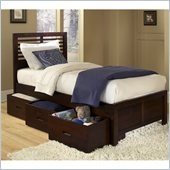 Homelegance Paula Captain Bed with Drawer in Medium Cherry