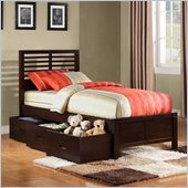 Homelegance Paula II Captain Bed with Drawer in Dark Cherry