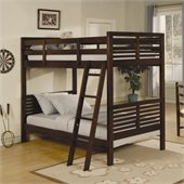 Homelegance Paula II Twin Bunk Bed in Cherry