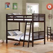 Homelegance Paula II Twin Bunk Bed in Dark Cherry