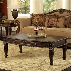 Homelegance Palace Cocktail Table in Rich Brown