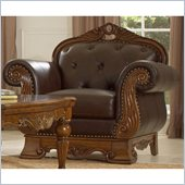 Homelegance Golden Eagle Leather Chair in Brown