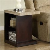 Homelegance Mooney End Table in Dark Cherry