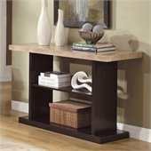 Homelegance Mooney Sofa Table in Dark Cherry