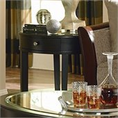 Homelegance Brooksby End Table with Mirror Top in Ebonized Cherry