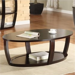 Homelegance Patterson Cocktail Table in Espresso