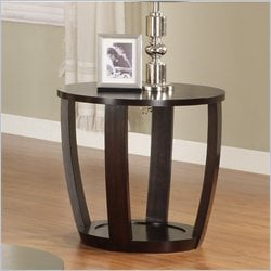 Homelegance Patterson End Table in Espresso