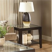 Homelegance Vincent End Table in Espresso