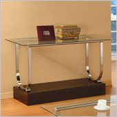 Homelegance Quigley Glass Top Sofa Table w/ U-Shaped Chrome Framing