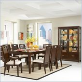 Homelegance Keller 7 Piece Dining Table Set in Dark Brown Cherry