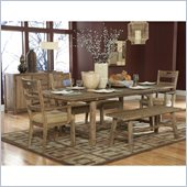 Homelegance Oxenbury 6 Piece Dining Table Set in Natural Distress