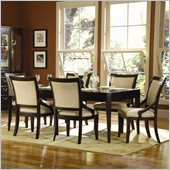 Homelegance Bexley 7 Piece Dining Table Set in Dark Cherry