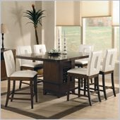 Homelegance Elmhurst 7 Piece Counter Height Dining Table Set in Cherry