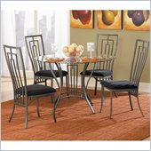 Homelegance Flight 5 Piece Dining Table Set in Dark Grey