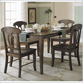 Homelegance Merritt 5 Piece Dining Table Set in Dark Cherry