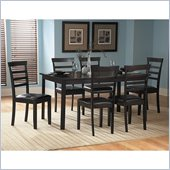 Homelegance Marker 7 Piece Dining Table Set in Dark Cherry