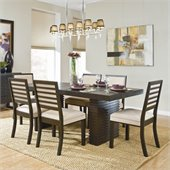 Homelegance Miles 7 Piece Dining Table Set in Dark Espresso