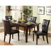 Homelegance Decatur 5 Piece Dining Table Set in Espresso