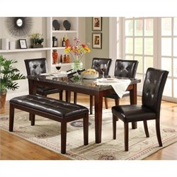 Homelegance Decatur 6 Piece Dining Table Set in Espresso