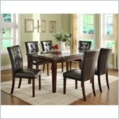 Homelegance Decatur 7 Piece Dining Table Set in Espresso