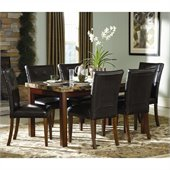 Homelegance Achillea 7 Piece Dining Table Set in Cherry