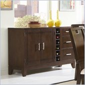 Homelegance Keller Server in Dark Brown Cherry