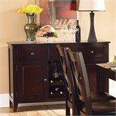 Homelegance Crown Point Server in Merlot