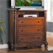 Homelegance Madaleine TV Chest in Warm Cherry