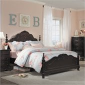 Homelegance Cinderella Bed in Dark Cherry