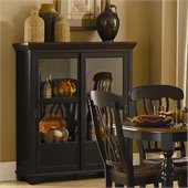 Homelegance Ohana Curio in Antique Black/Warm Cherry