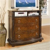 Homelegance Palace TV Chest in Rich Brown