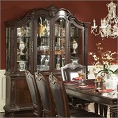 Homelegance Place Buffet and Hutch in Rich Brown