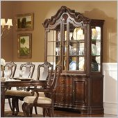 Homelegance Perry Hall Buffet and Hutch in Rich Brown