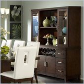 Homelegance Elmhurst Buffet and Hutch in Brown Cherry