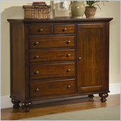 Homelegance Aries Door Chest in Warm Brown Cherry
