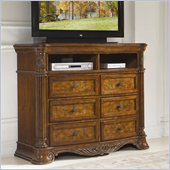 Homelegance Golden Eagle TV Chest in Antique Caramel