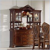 Homelegance Golden Eagle Buffet and Hutch in Antique Caramel