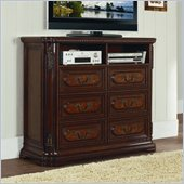 Homelegance Spanish Bay TV Chest in Dark Cherry