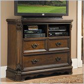Homelegance Montrose TV Chest in Brown Cherry