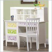 Homelegance Whimsy Writing Desk and Hutch Set in White Finish