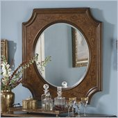 Homelegance Montvail Server Mirror in Cherry
