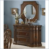 Homelegance Montvail Server and Mirror Set in Cherry