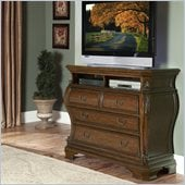 Homelegance Cromwell TV Chest in Warm Cherry