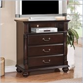 Homelegance Townsford TV Chest in Dark Cherry