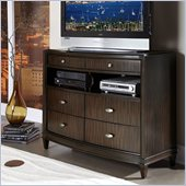 Homelegance Abramo TV Chest in Dark Cherry
